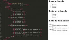 listas html