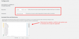 Cómo configurar WordPress Backup to Dropbox