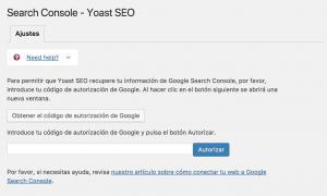 Search Console Yoast SEO