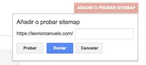 Añadir Sitemap